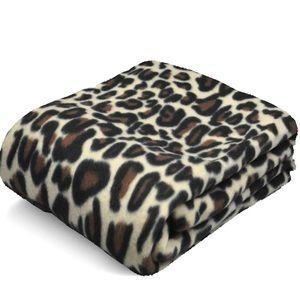 Mainstays Leopard Fleece Throw Blanket